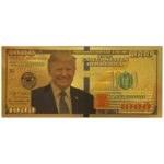 main images اسکناس 1000 دلار آمریکا طرح دونالد ترامپ روکش آب طلا