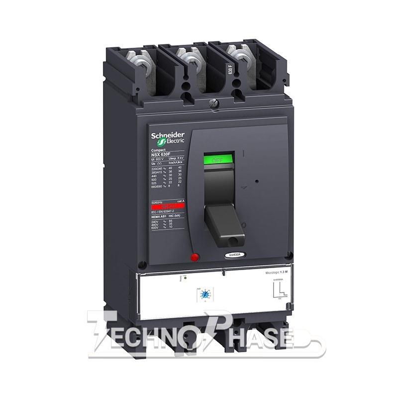 تصویر کلید اتوماتیک کمپکت 400 آمپر الکترونیکی اشنایدر مدل NSX