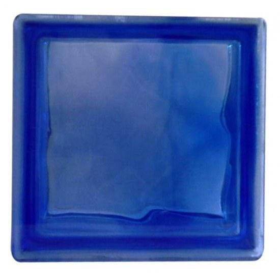 تصویر بلوک شیشه ای کاوه مدل کلودی آبی