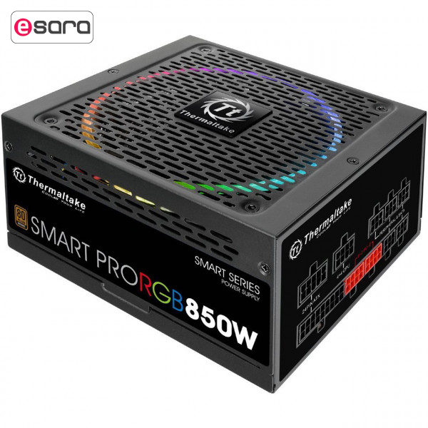 تصویر منبع تغذیه کامپیوتر ترمالتیک مدل Smart Pro RGB 850W Bronze Thermaltake Smart Pro RGB 850W Bronze Computer Power Supply