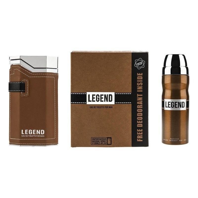 image ست ادو تویلت و دئودورانت مردانه امپر مدل Legend حجم 100 میل Emper Legend  Eau De Toilette & Deodorant For Men 100ml