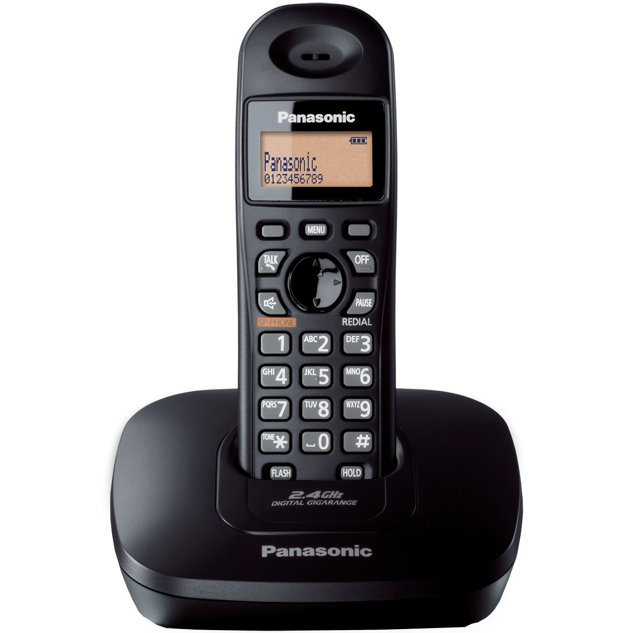 main images تلفن بی سیم پاناسونیک مدلPanasonic KX-TG3611BX Panasonic KX-TG3611BX Wireless Phone