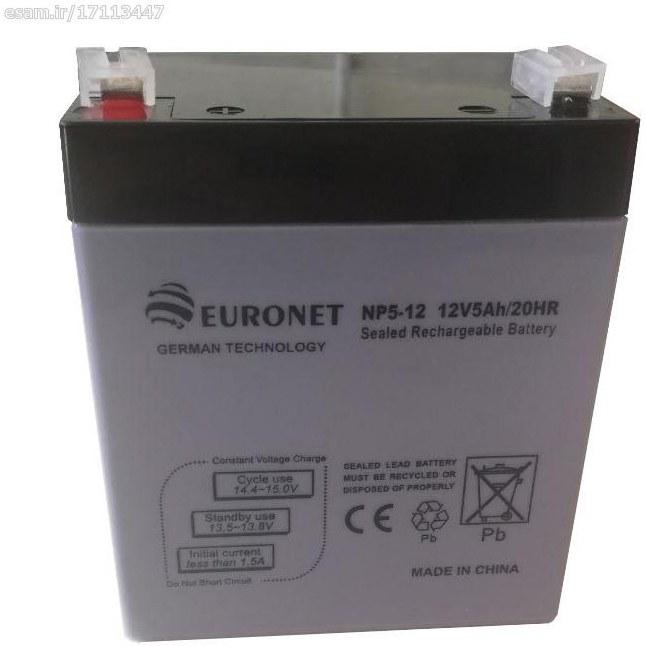 باتری سیلد اسید EURONET یورونت 12v 5AH