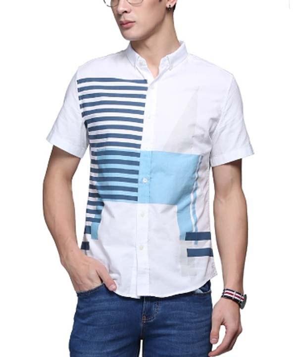 پیراهن طرح دار مردانه جین وست