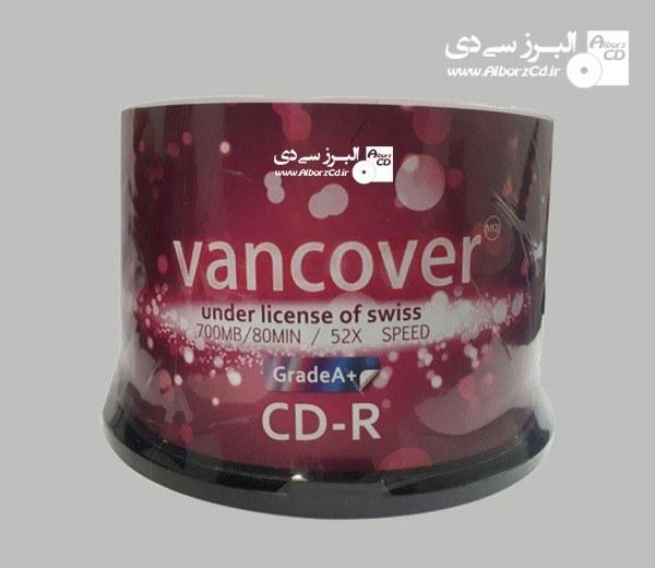 سی دی خام ونکوور رنگی باکسدار 50 عددی