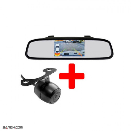 تصویر مانیتور آینه ای 4.3 اینچی با دوربین عقب Car Monitor Mirror 4.3 Inch Car Monitor Mirror 4.3 Inch With rear camera