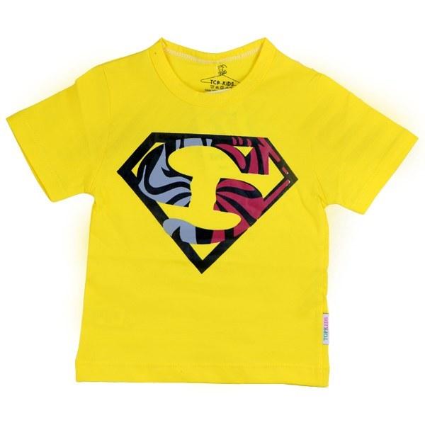 تیشرت پسرانه آستین کوتاه تاپ کیدز طرح سوپرمن رنگ زرد