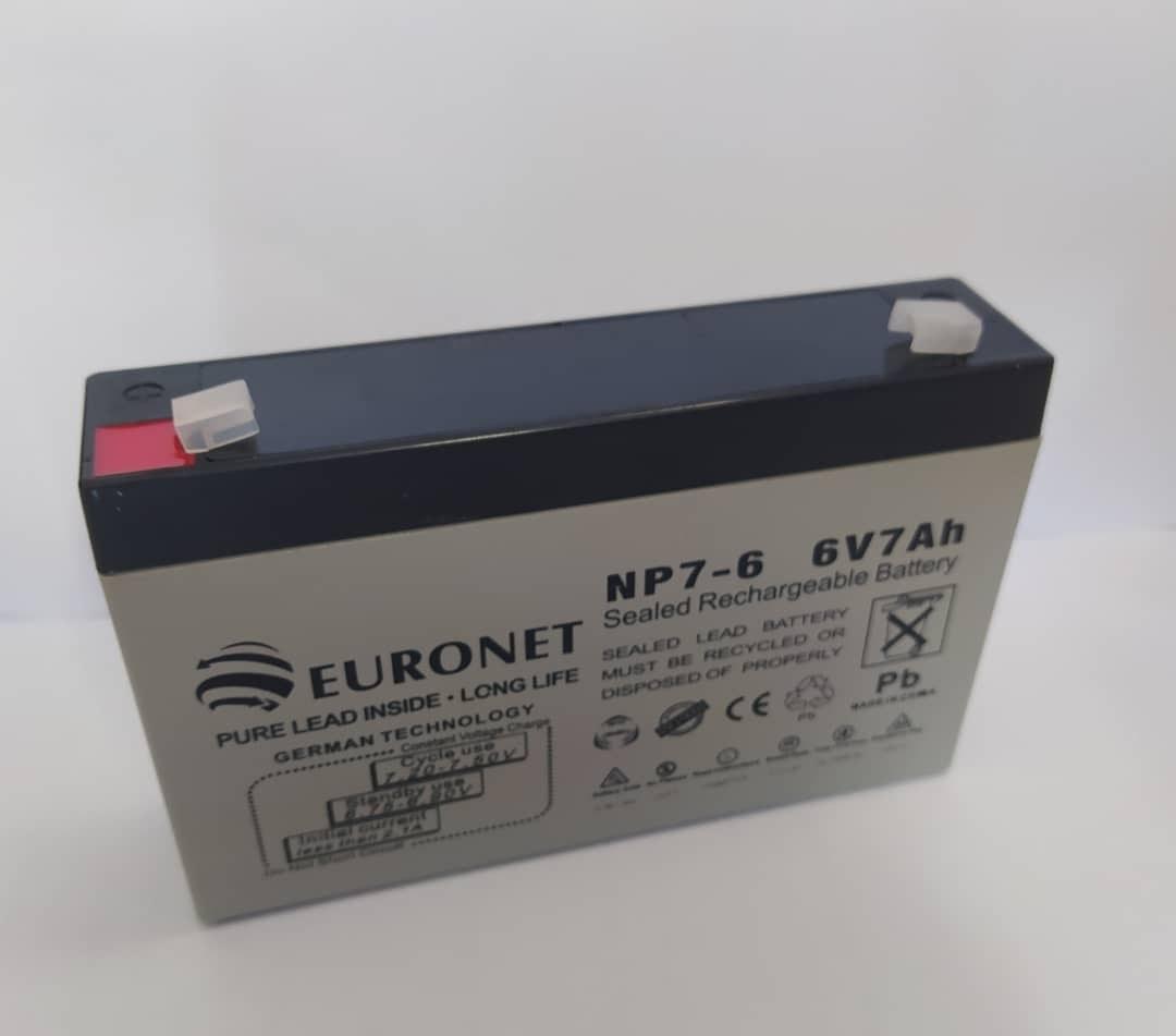 باتری 6 ولت 7 آمپر euronet