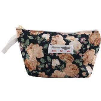کیف لوازم آرایش زنانه طرح گل کد PJ-33-167