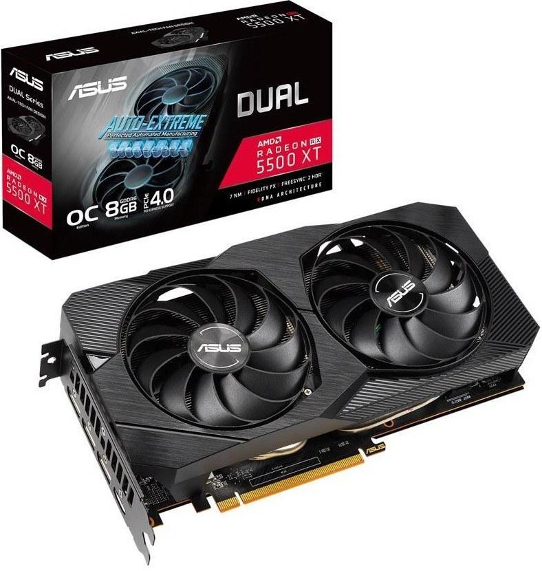 تصویر ASUS DUAL RX 5500XT O8G-EVO Graphics Card کارت گرافیک ایسوس مدل DUAL RX5500XT O8G EVO با حافظه 8 گیگابایت