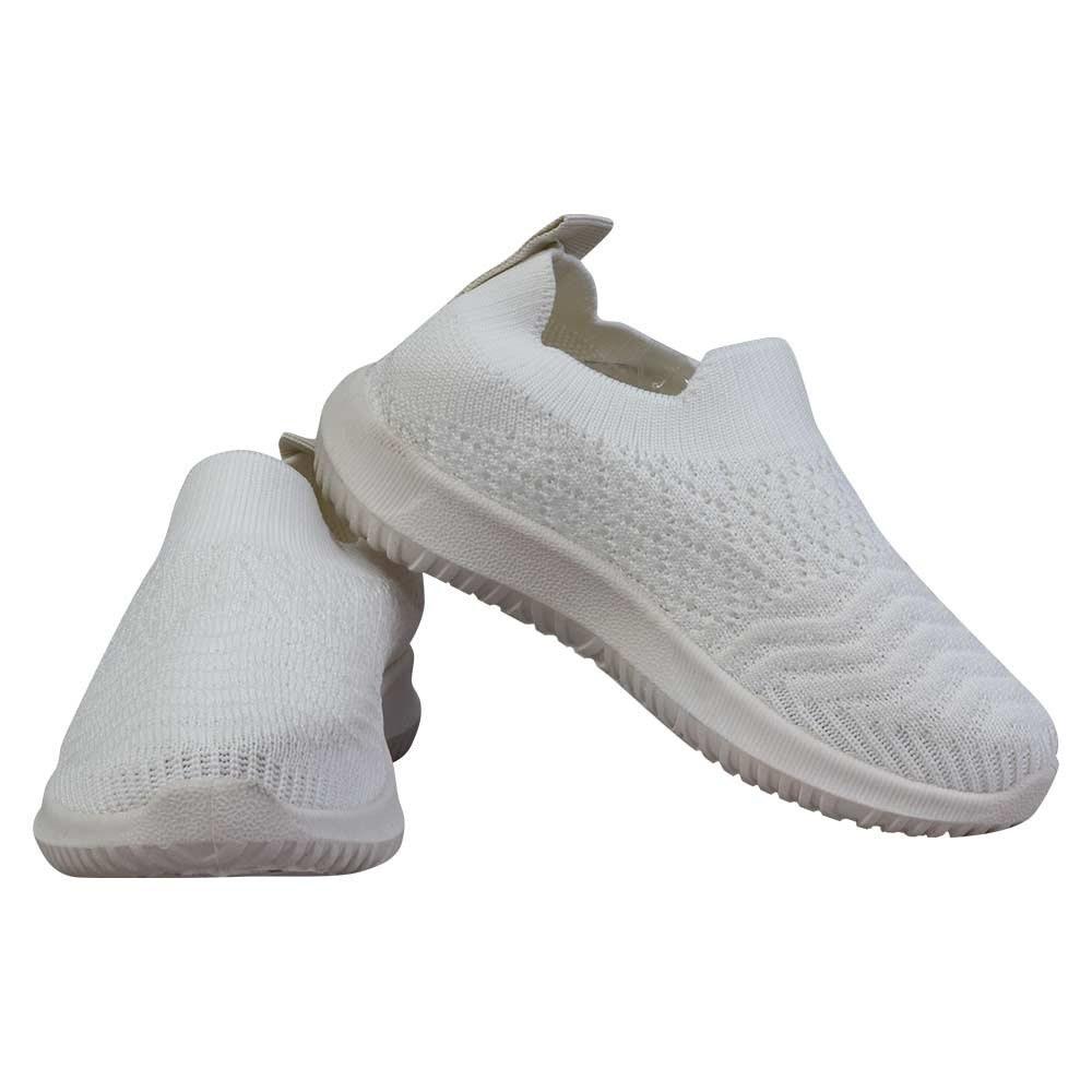 تصویر کفش بچه گانه اسپرت جورابی سفید