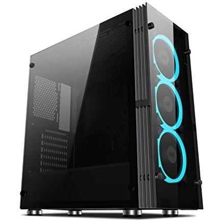 عکس مورد مورد علاقه Aigo Atlantis ATX Mid-Tower Desktop کامپیوتر بازی ویندوز شیشه ای با 120 میلی متر چراغ حلقه LED طرفداران حلقه آبی آبی از پیش نصب شده (با 3 طرفداران آبی یخی) از قبل نصب شده  مورد-مورد-علاقه-aigo-atlantis-atx-mid-tower-desktop-کامپیوتر-بازی-ویندوز-شیشه-ای-با-120-میلی-متر-چراغ-حلقه-led-طرفداران-حلقه-ابی-ابی-از-پیش-نصب-شده-با-3-طرفداران-ابی-یخی-از-قبل-نصب-شده