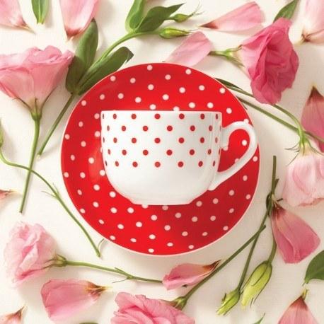 تصویر سرویس چای خوری اسپاتی قرمز