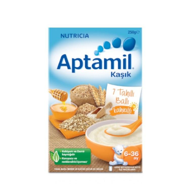 سرلاک هفت غله با عسل بدون شیر مخصوص صبحانه اپتامیل |