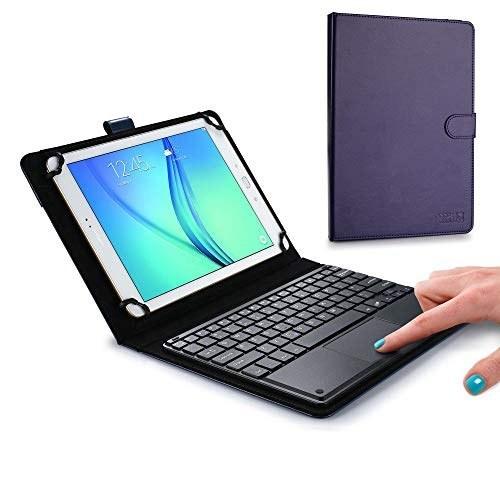تبلت های صفحه کلید اجرایی Cooper Touchpad برای تبلت های 9 ، 10 ، 10.1 ، 10.5 اینچ   صفحه کلید بی سیم بلوتوث 2 در 1 با تاچ پد و چرم مصنوعی (آبی)
