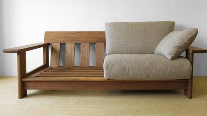 تصویر نیمکت (مبل) چوبی