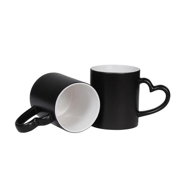 تصویر ماگ سخنگو حرارتی دسته قلبی با چاپ طرح دلخواه ا Thermal Heart Talking Mug With Custom Design Print Thermal Heart Talking Mug With Custom Design Print