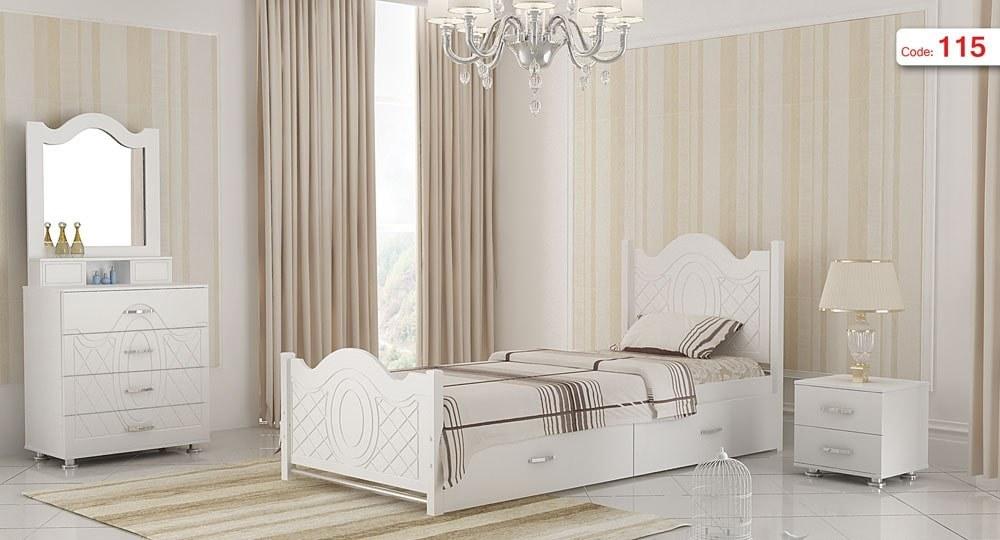 تصویر تخت خواب یک نفره مدل آرامش | فروشگاه اینترنتی چوب چوب