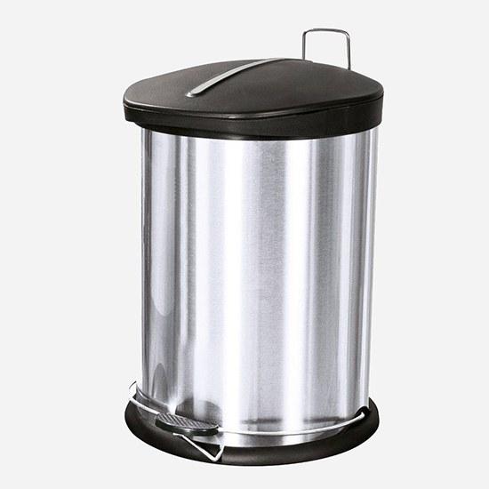 تصویر سطل زباله پدال دار استیل کلاغی آکا الکتریک 20 لیتر