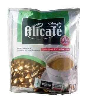 بسته ساشه قهوه علی کافه مدل Sugar Free 4 in 1 | Alicafe Sugar Free 4 in 1 Single Serving Sachets