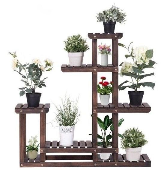 استند چوبی گل و گلدان مدل s2