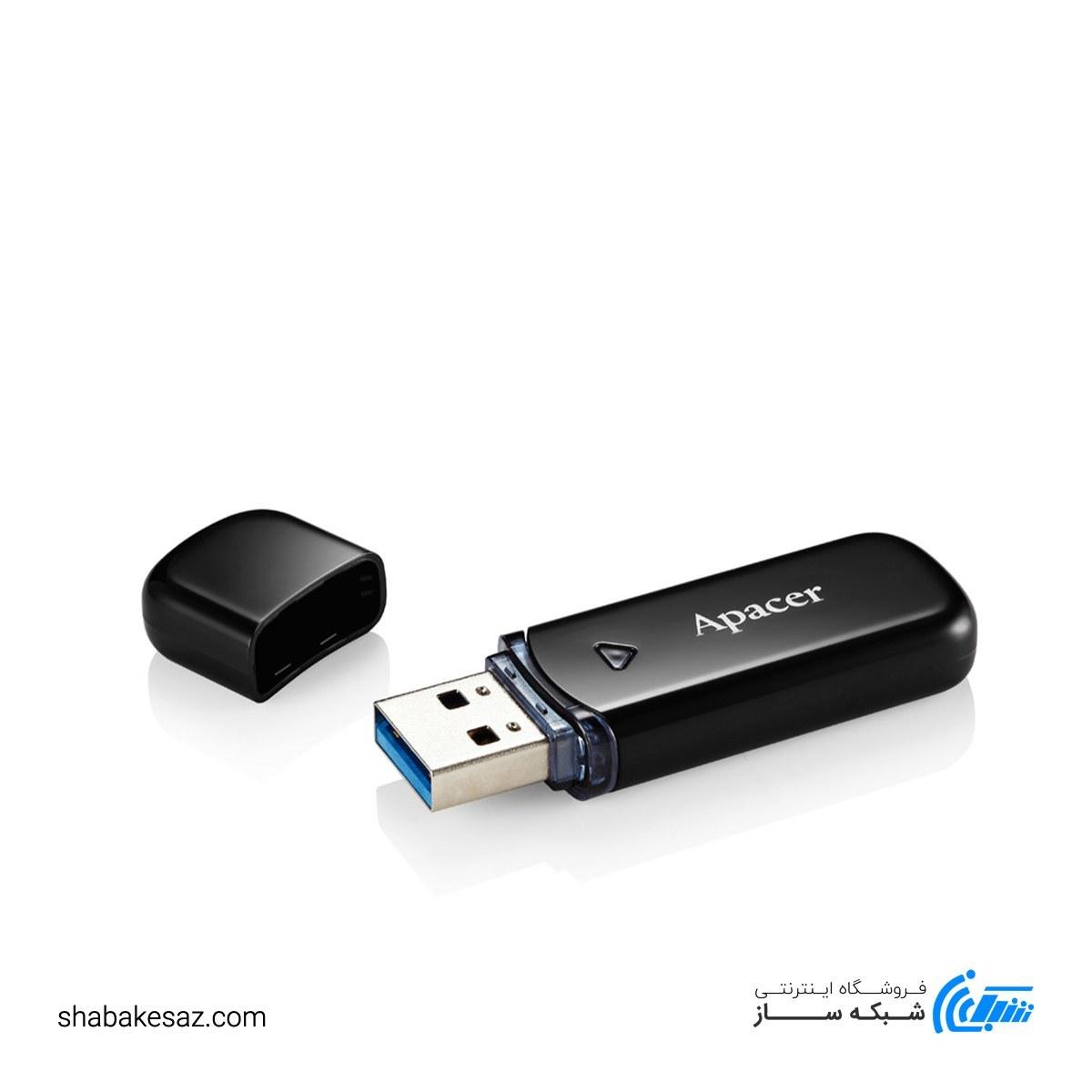 تصویر فلش اپیسر مدل Apacer USB3.1 AH355 ظرفیت 128 گیگابایت Flash Apacer USB3.1 AH355