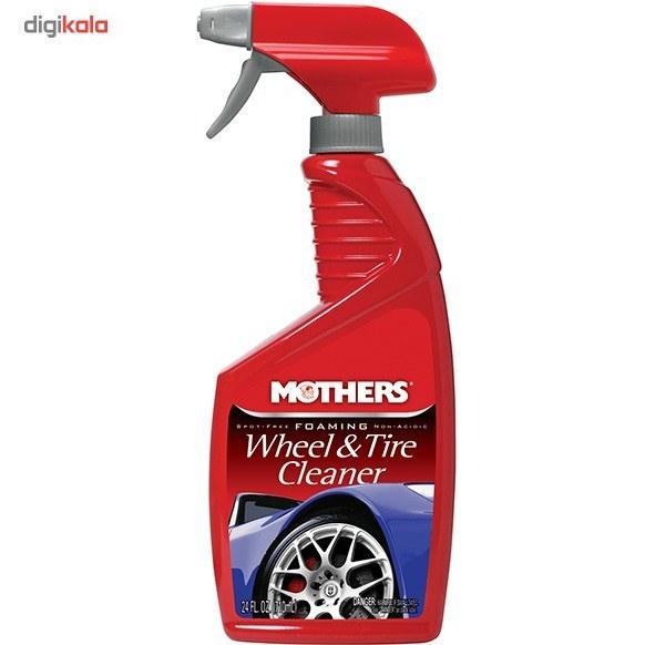 img اسپری فوم رینگ و لاستیک خودرو مادرز مدل 5924 حجم 710 میلی لیتر Mothers 5924 Car Foaming Wheel And Tire Cleaner 710mL
