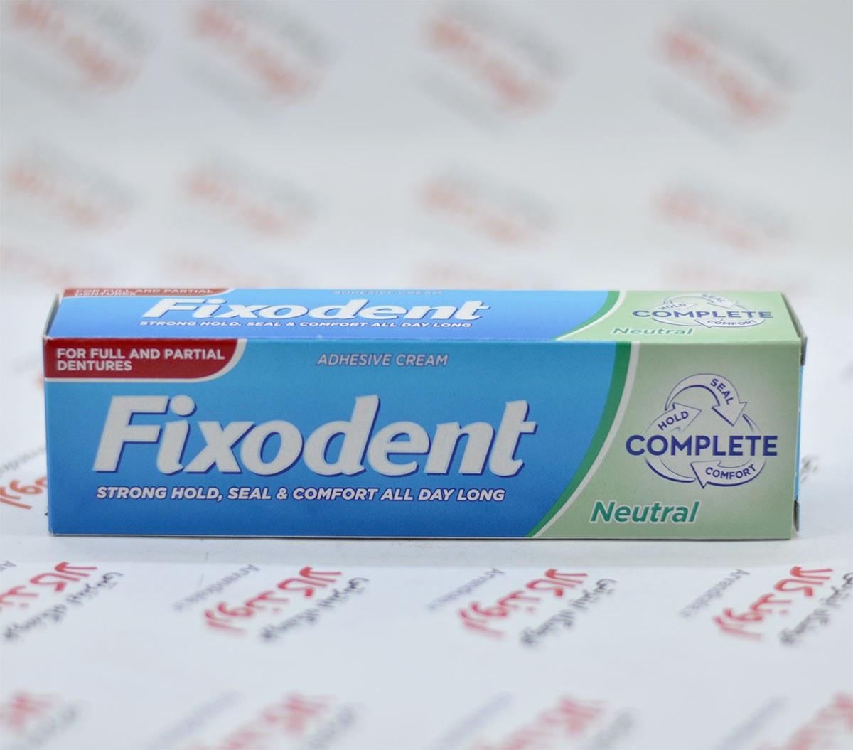 تصویر چسب دندان مصنوعی فیکسودنت Fixodent مدل Neutral