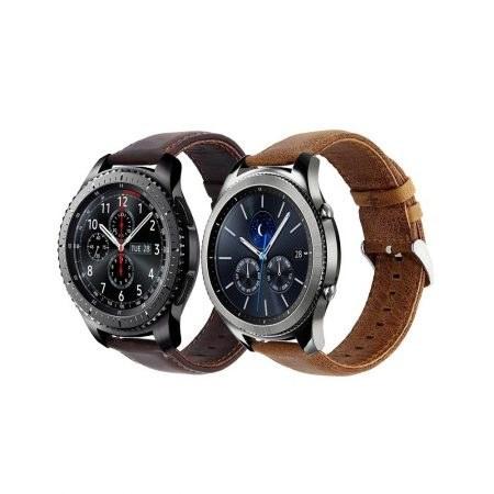 تصویر بند چرمی ساعت هوشمند سامسونگ Gear S3 مدل Genuine Leather Samsung Gear S3 Frontier & classic Genuine Leather Band