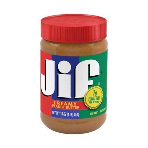کره بادام زمینی کرمی 454 گرمی جیف JIF