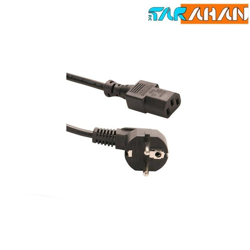 تصویر کابل برق سه پین منبع تغذیه کامپیوتر Power Cable 3-Pin