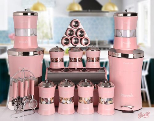 سرویس آشپزخانه ۲۷ پارچه فونیکس مدل NEW YOURK گلبهی