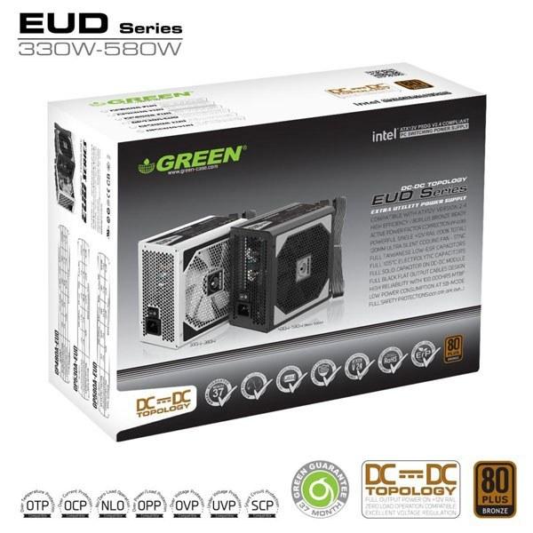 تصویر منبع تغذیه گرین 580 وات مدل GP580A-EUD