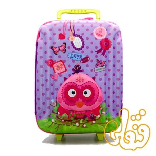 کیف چمدان چرخدار جغد 80161 |
