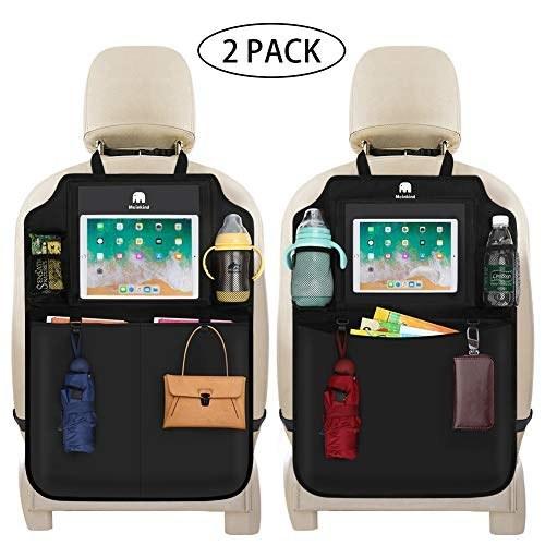 نگهداره وسایل ماشین مینکایند ضد آب با جای تبلت رنگ مشکی برای نصب پشت صندلی عقب (2 عدد)