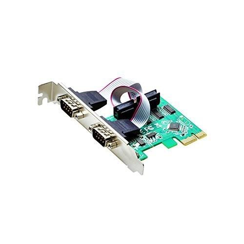 تصویر کارت سریال rs232 اسلات PCI-E دو پورت (com)