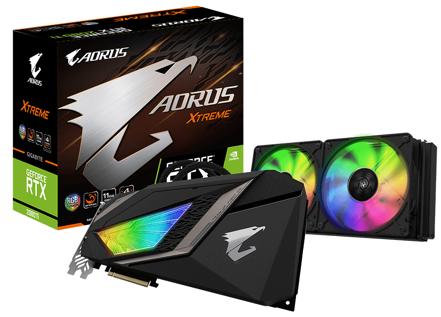 کارت گرافیک گیگابایت مدل AORUS GeForce RTX ۲۰۸۰ Ti XTREME WATERFORCE با حافظه ۱۱ گیگابایت | GigaByte AORUS GeForce RTX 2080 Ti XTREME WATERFORCE 11G Graphics Card