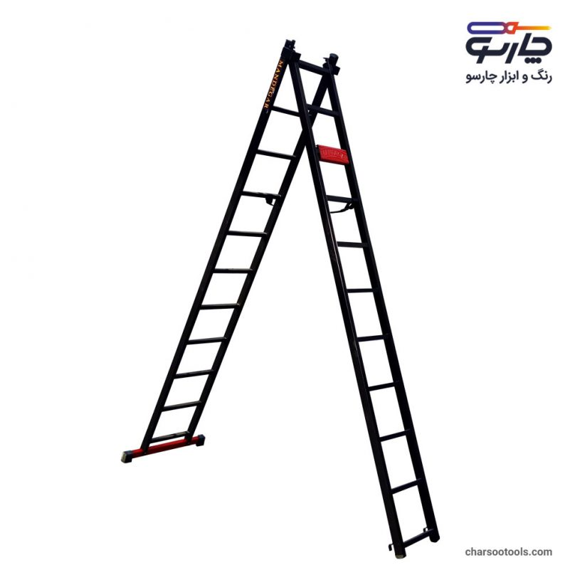 تصویر نردبان کشویی آهنی 23 پله