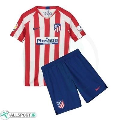 پیراهن شورت اول اتلتیکومادرید Atletico Madrid 2019-20 Home Soccer Jersey Kit Shirt+Short