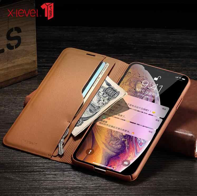 کیف محافظ چرمی آیفون 11 برند X-Level Wallet