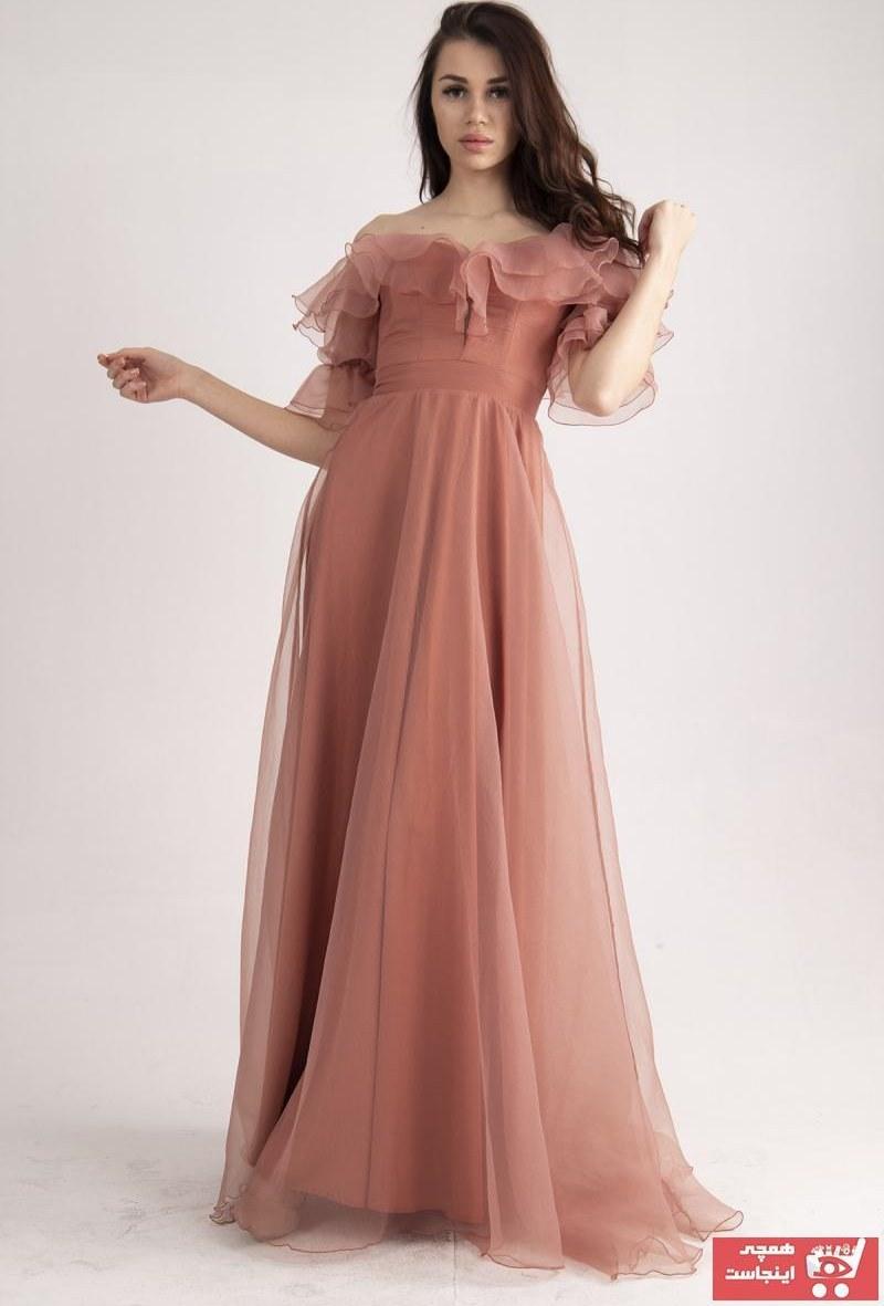 تصویر سفارش انلاین لباس مجلسی ساده برند belamore رنگ صورتی ty95618581