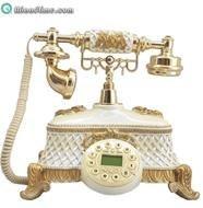 تصویر تلفن تزیینی آرنوس کرم طلایی مدل 032