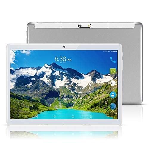 تبلت های اندرویدی 8.1 10 اینچ (10.1 اینچ) ، Octa Core ، تبلت های دو سیم کارته فبلت 3G ، دوربین دوگانه ، 4 گیگابایت رم 64 گیگابایتی ، WiFi ، GPS ، OTG (نقره)