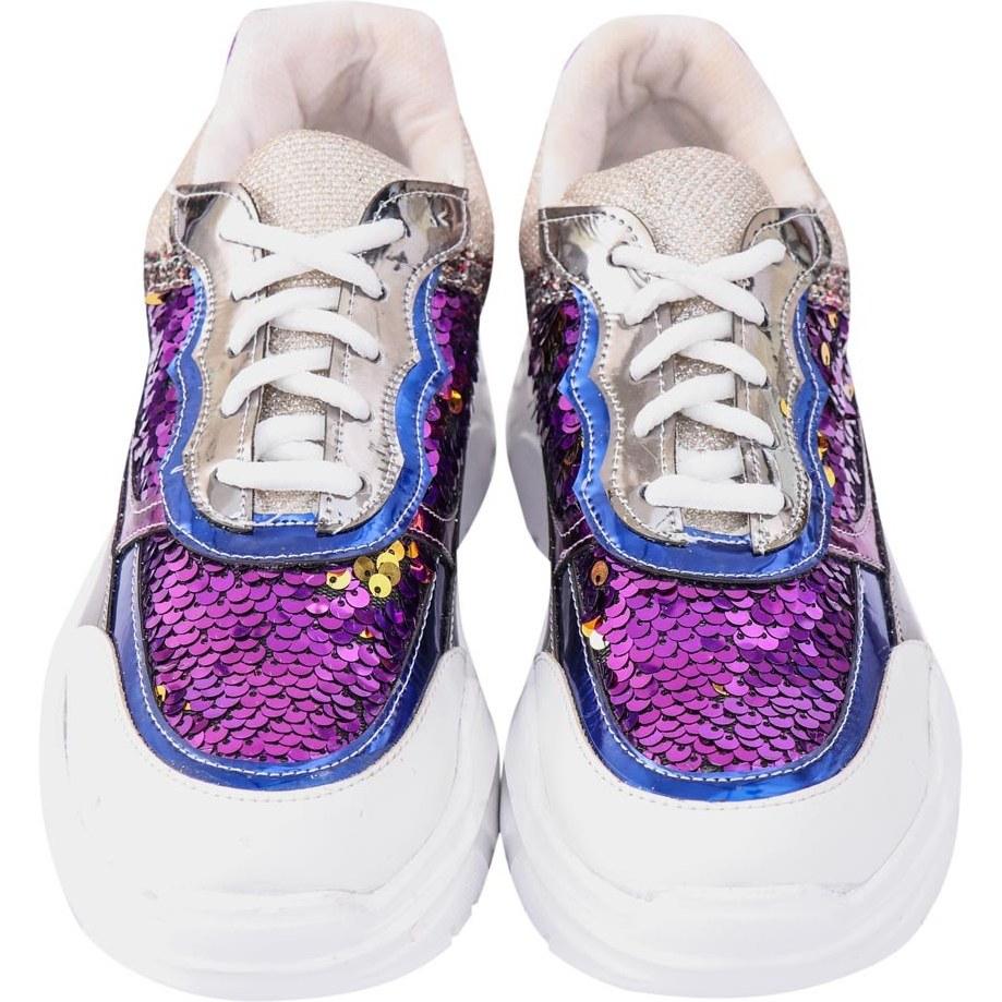 کفش دخترانه اسپورت پولکی کد 745