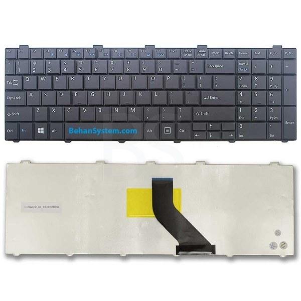 تصویر کیبورد لپ تاپ Fujitsu Siemens مدل AH531 به همراه لیبل کیبورد فارسی جدا گانه