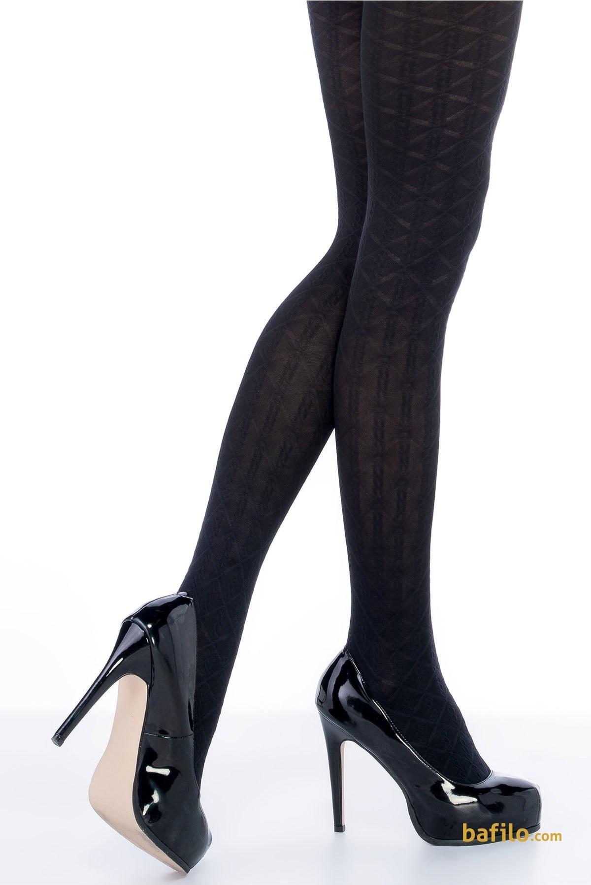 جوراب شلواری طرح دار زنانه پنتی  Lola مشکی |