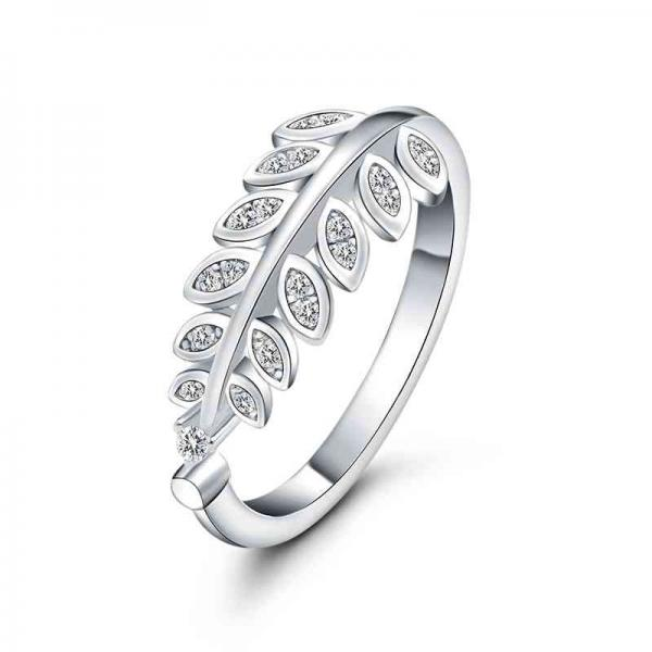 خرید انگشتر نقره سواروسکی - کد R026- فروش انگشتر