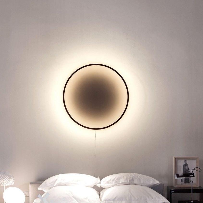 تصویر چراغ دیواری مینیفر مدل حلقه نورانی