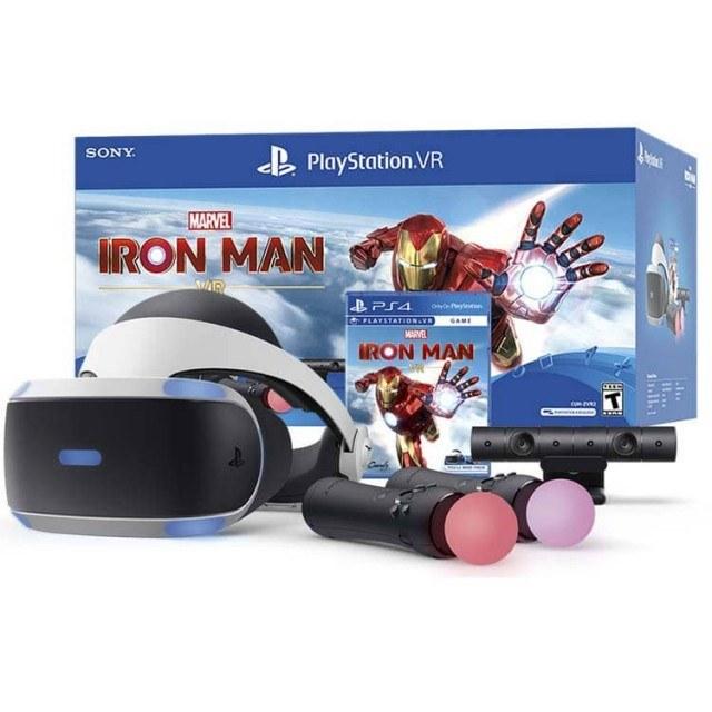 تصویر باندل عینک واقعیت مجازی سونی PlayStation VR Marvel's Iron Man – ZVR2