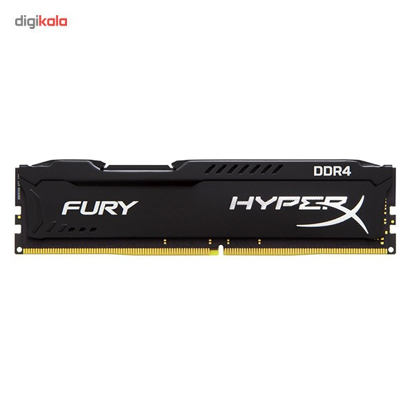 تصویر رم کامپیوتر کینگستون مدل HyperX Fury DDR4 2400MHz CL15 ظرفیت 8 گیگابایت Kingston HyperX Fury 8GB DDR4 2400MHz CL15 Single Channel RAM HX424C15FB28
